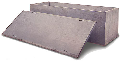 Concrete Burial Vault Forms : Shoe box arslocii placeness as art